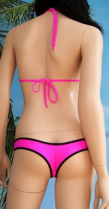 Bikini Alawa full top a triangolo con triplo drappeggio + bikini slip