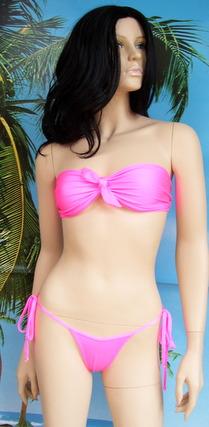 Bikini Kaliska top a fascia con fiocco + tanga jada lacci